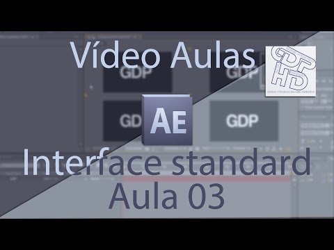 Aula 03 de Adobe After Effects – Interface standard – GDP