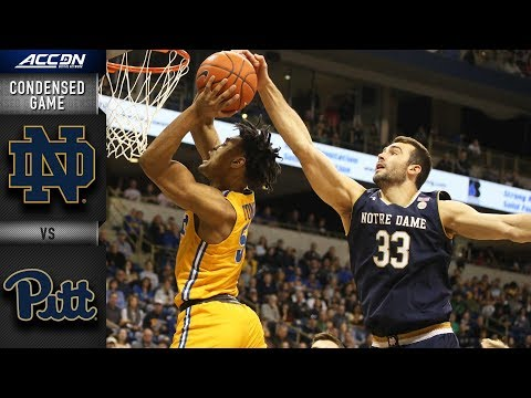 Notre Dame vs. Pittsburgh Condensed Game | 2018-19 ACC Basketball