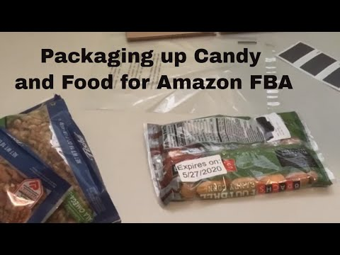 Packaging up Candy and Food for Amazon FBA