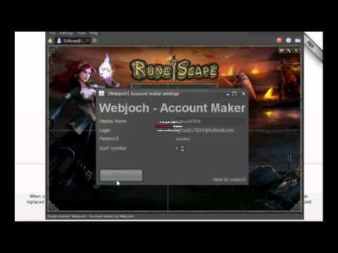 Runescape Account Maker-Script- RSBuddy -
