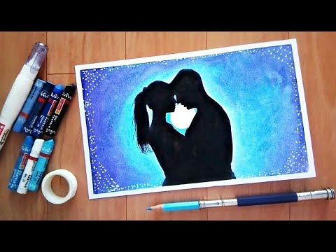 Beautufull couple scenery  | How to draw with oil pastels Mp3