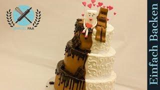3-stöckige Kinderschokolade Hochzeitstorte, Milky & Schoki