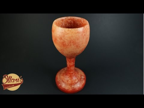 Candle Goblet / Turning Wax on the Lathe (Experiment)