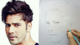 """how to draw """"varun dhawan"""" outline 