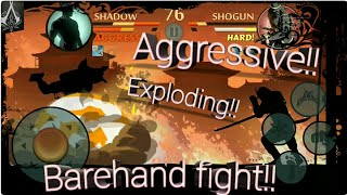 Shogun And His Bodyguards Defeated On Barehand Shadow fight 2 special edition