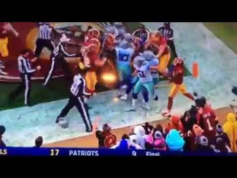 Redskins Cowboys HUGE Fight!
