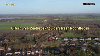 Vogelvlucht Uiterburen Zuidbroek en Zuiderstraat Noordbroek