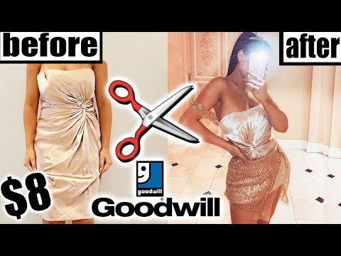 DIY THRIFT STORE HOMECOMING DRESS MAKEOVER!