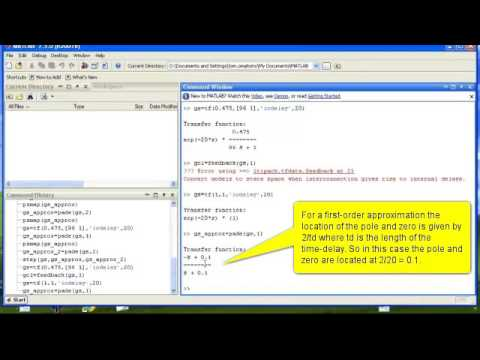 Using the Root-Locus Tool to design a PI Controller - Part I Pade  Approximation