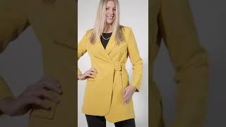 Vidéo: Robe Blazer Robe