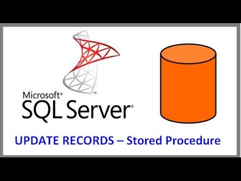 SQL Server - UPDATE RECORDS IN TABLE VIA STORED PROCEDURE