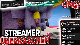YouTube STREAMER ÜBERRASCHEN!