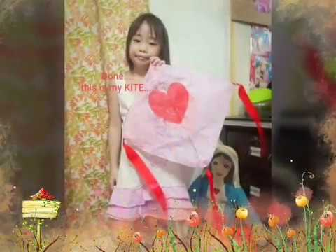 How to make flying paper kite DIY with simple materials by 7 yr old Clarey