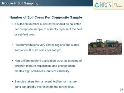 NRCS / 4R, Module 9: Soil Sampling