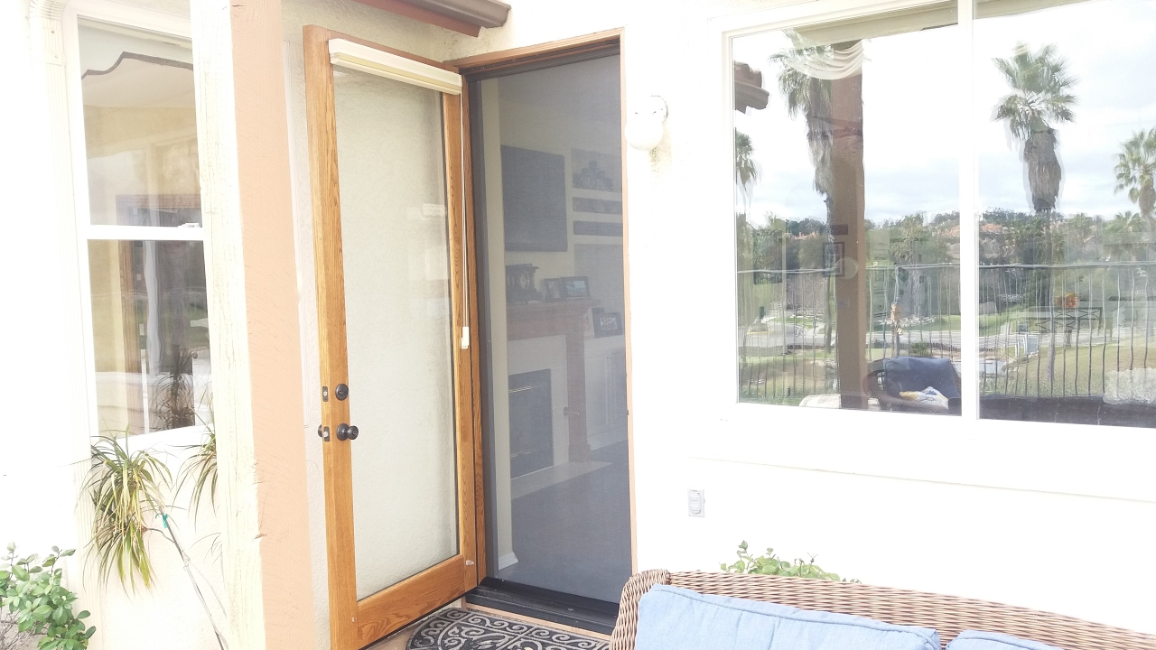 Retractable Screens For Out Swing Doors Youtube