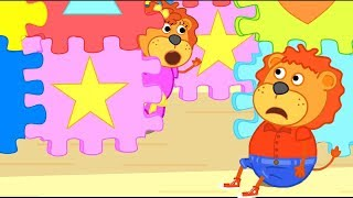 Lion Family Official Channel | Build Puzzle Playhouse | Cartoon For Kids