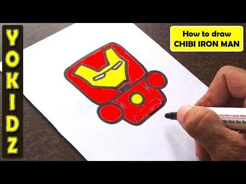 HOW TO DRAW CHIBI IRON MAN #ENDGAME #AVENGERS