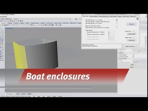 Templating a boat enclosure
