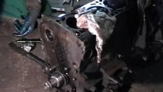 видео Распредвалы, привод распредвалов ЗМЗ-4062, промежуточный вал