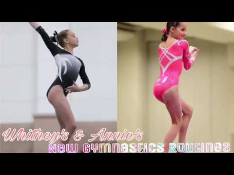 Whitney's and Annie's New Gymnastics Routines | Gymnasts