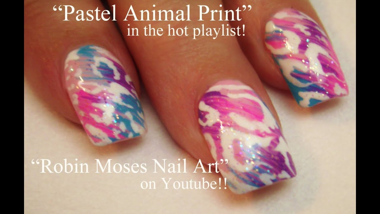 Hot nail art tutorials pastel leopard print nail art design hot nail art tutorials pastel leopard print nail art design youtube prinsesfo Images
