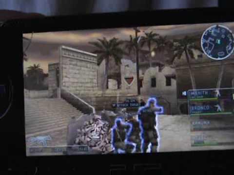 SOCOM:U.S.Navy SEALs:Tactical Strike On PSP (Actual Gameplay