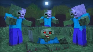 Zombie vs Wither Life: Full Animation I - Minecraft Animation
