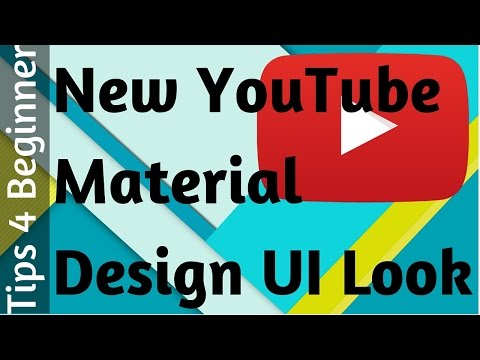 Material Design YouTube New Look How to Enable   YouTube Tips Tricks   latest youtube feature