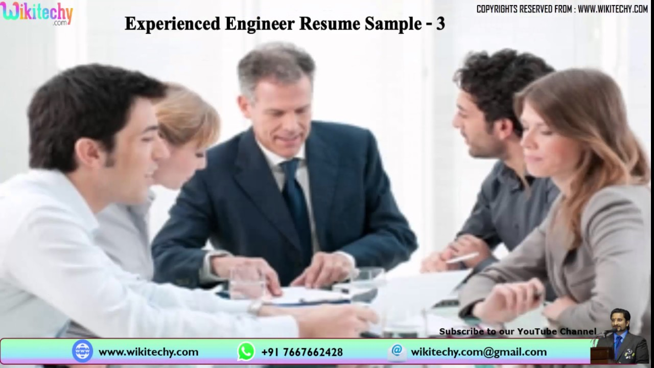 Experienced engineer resume Resume Samples for