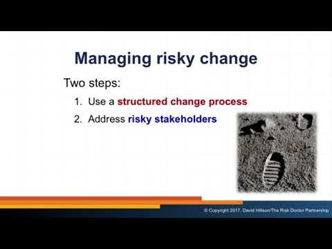 Managing risky change (2017 webinar, Rome)