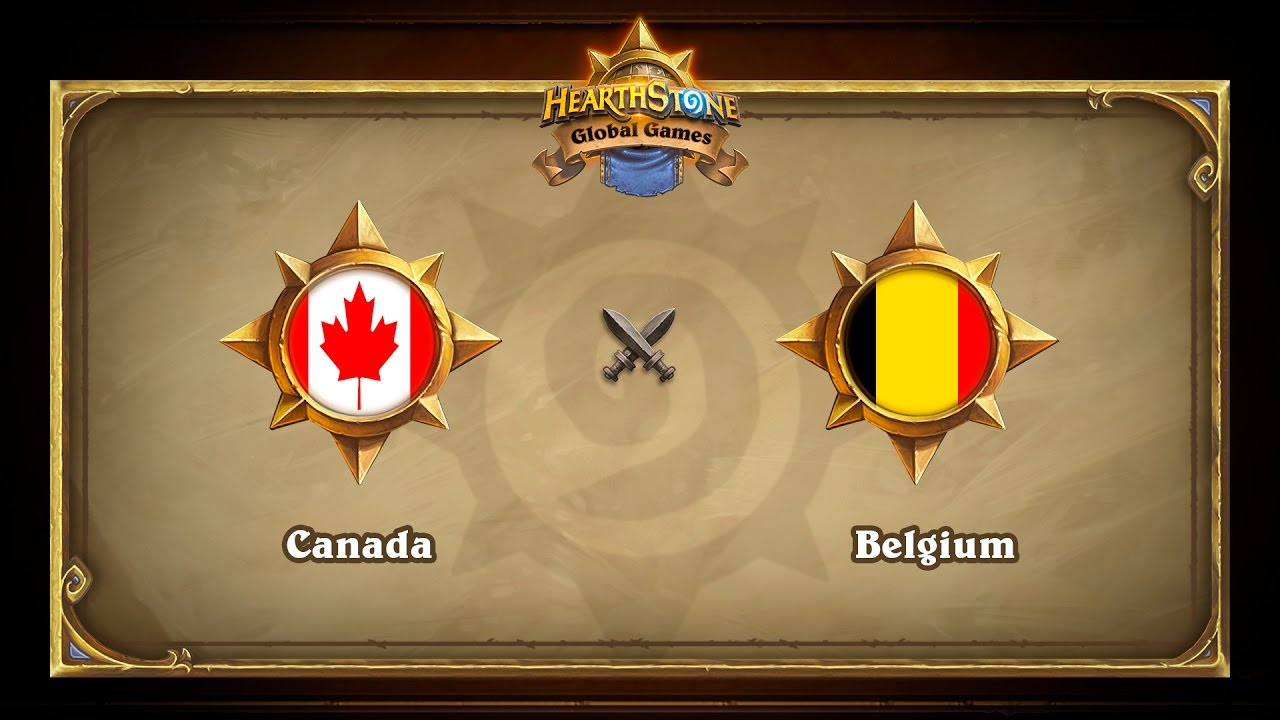 Canada vs Belgium, Hearthstone Global Games Group Stage