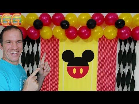 Decoracion De Mickey Mouse Para Cumpleanos Cortinas De Papel Crepe