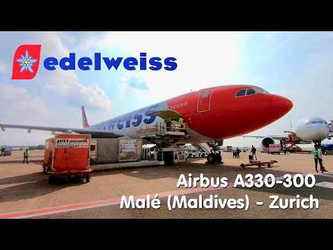 ✈TRIP REPORT | Edelweiss Air (Economy) | Malé - Zurich | Airbus A330-300