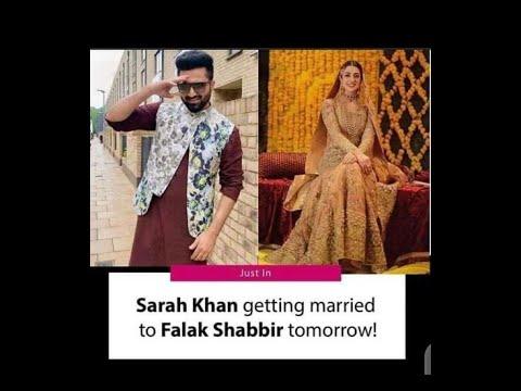 Sarah Khan and falak shabbir getting married tommorrow | sara khan ...