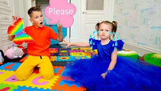 Five Kids Learning Please and Thank You + more Children's Songs and Videos