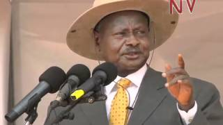 Museveni Commissions Road Construction equipment