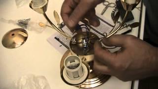 Как собрать и подключить китайскую люстру. Установка люстры в Киеве(, 2014-09-03T12:28:44.000Z)