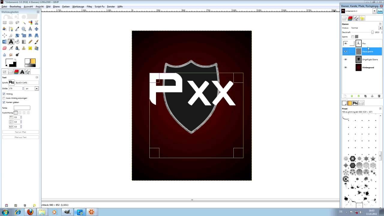 Gimp Tutorial Wappen - YouTube