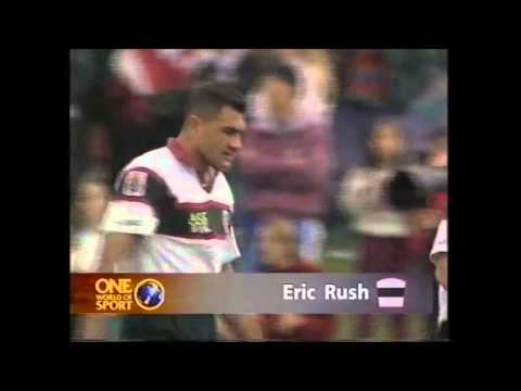 Eric Rush gets sent off for knocking out Zinzan Brooke!