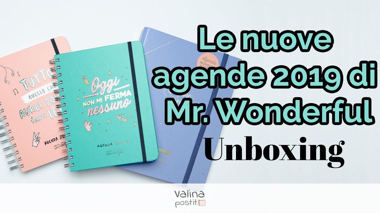 Le nuove agende 2019 di Mr. Wonderful - Linea Sketch e ad anelli - Unboxing