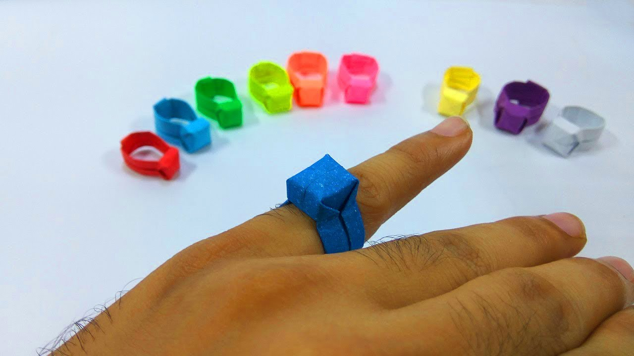 How to make an easy paper ring origami ring tutorial step by how to make an easy paper ring origami ring tutorial step by step instructions jeuxipadfo Choice Image