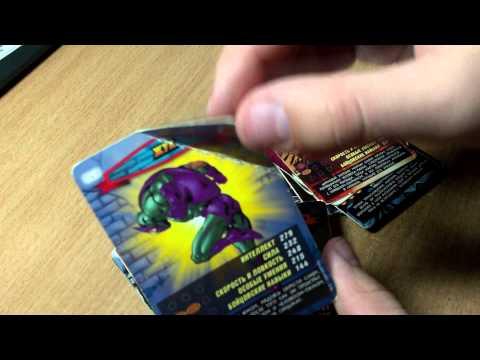 Коллекция карточек Человек-паук Герои и злодеи №3