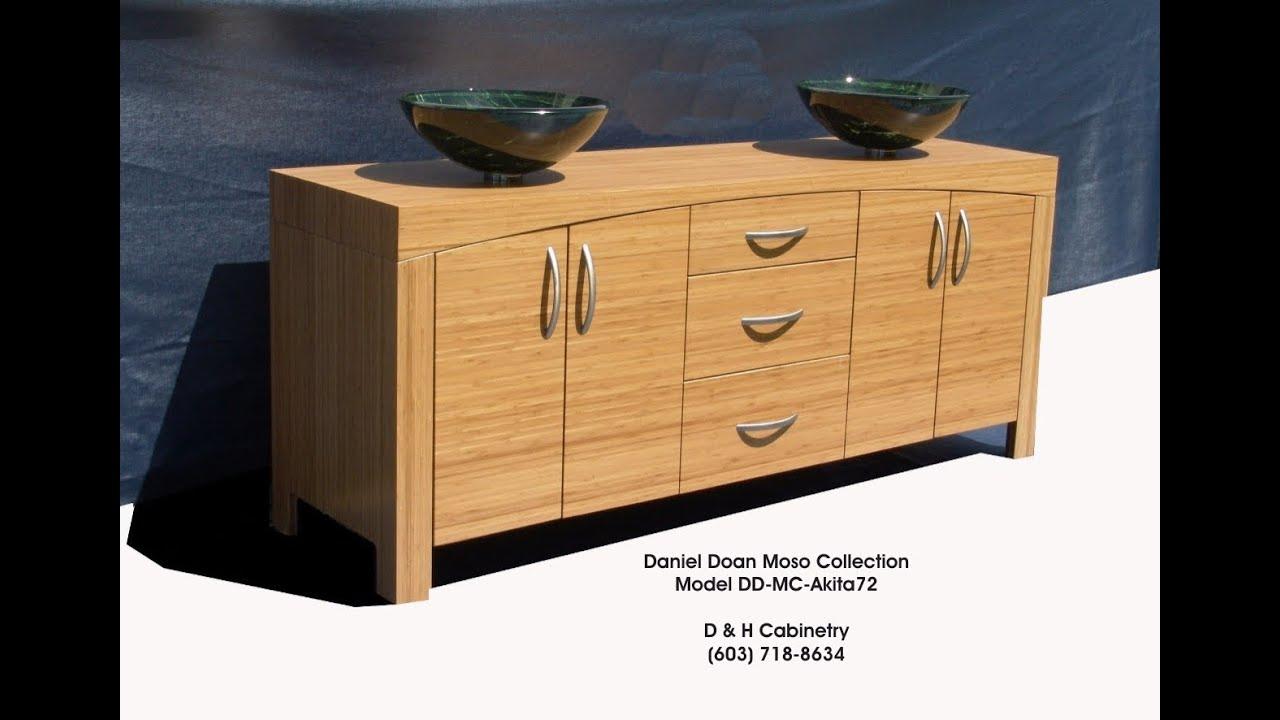 Akita 65 72 Modern Bamboo Bathroom Vanity Denver Co Seattle Wa Hartford Ct Youtube