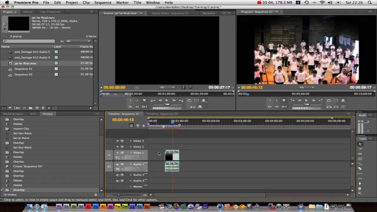 Adobe Premiere Pro Basics Tutorial : editing basics 1 ...