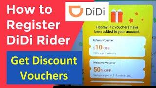 How to Register DiDi Rider app, Get Discount Vouchers, Rideshare App screenshot 1