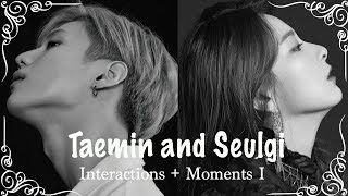 Interactions between SHINee's Taemin + Red Velvet's Seulgi. This is...