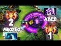 10k MMR RANK 2 Mikoto Morphling vs 11k MMR RANK 1 Abed Void Spirit - EPIC Mid Battle Dota 2