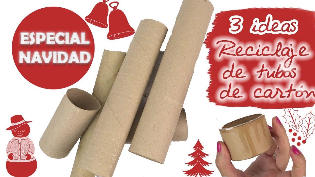 3 Ideas Para Reutilizar Tubos De Carton Especial Navidad