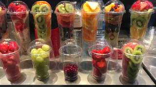 광장시장 생과일 쥬스 // Mixed Fresh Fruit Juice // Korean Street Food // 새콤달콤