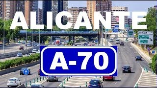 A-70 Circunvalación de Alicante , Túnel San Juan - Elche/Exl , Alicante/Alacant / Spain Highways